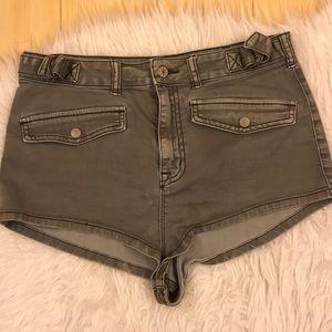 💥ECOTE Booty high rise Denim Shorts